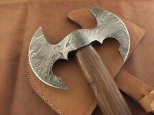 CUSTOM HANDMADE DAMASCUS STEEL WOOD AXE HATCHET TOMAHAWK Knife WITH SHEET