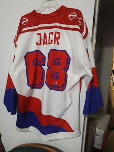 JAROMIR JAGR Original Czech Republic Signed Jersey Tristar COA (Made in Russia)