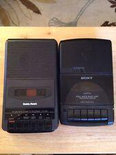 Sony TCM-929 & RADIO SHACK CTR-66 Lot Of 2 Cassette Recorders VTG