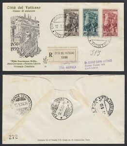 "Vaticano 1950 ""Guardia Palatina"" serie di 3 val. su FDC Venetia n.70 viaggiata"