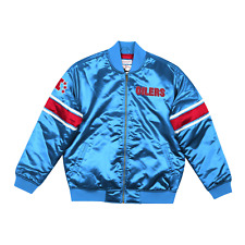 Men's Mitchell & Ness Light Blue NFL Houston Oilers Heavyweight Satin Jacket