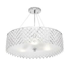 Decor Living 3-Light Crystal and Chrome Chandelier