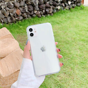 soft solid camera full cover phone case For iPhone 12 11 Pro XS Max XR 7 8 Plus