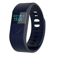 Pro M5 Blood Pressure/Oxygen Heart Rate Bluetooth Smart Wrist Bracelet Dark Blue