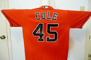 Gerrit Cole Astros Home Jersey Orange Men's Large MLB Licensed Yankees USA