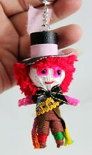 MAD HATTER Voodoo Doll  Keychain Handmade  Key Ring String Handcraft Adventure