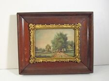 SIGNED WIEGANDT (BERNHARD GERMAN 1851-1918) WATERCOLOR PAINTING -VICTORIAN FRAME