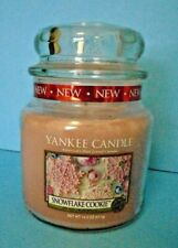Yankee Candle Snowflake Cookie Medium Jar New 14.5 Ounce HTF Retired