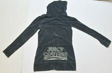 Woman's JUICY COUTURE Blue Hoodie Zip Up Long Sleeve Junior Size Extra Small XS