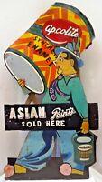 ASIAN PAINT COLOUR ADVERTISING SIGN CIRCUS JOKER CUT OUT TIN RARE COLLECTIBLES