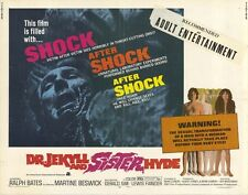 DR. JEKYLL AND SISTER HYDE Movie POSTER 22x28 Half Sheet Ralph Bates Martine
