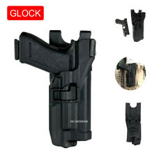 Tactic Level 3 Light Bearing Duty Mounted Belt Holster For Glock 17 19 22 23 31