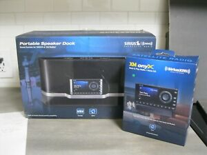 Sirius XM Satellite Portable Speaker Dock with (2) radios IOB - Everything Works