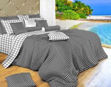 Duvet Cover Set - King size 6 Piece Luxury 100% Cotton Dolce Mela Bedding DM497K