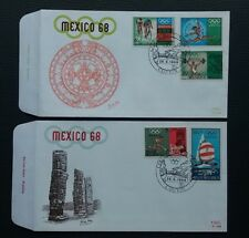 "FDC 1456/60 ""Jeux Olympiques - Mexico 68"" - Couvin !"