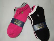 Polo Ralph Lauren ultra low cut white grey black pink Socks lot of 12 pair