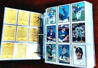 Lot of approximately 1000 baseball cards 1980's-early 1990's in binder