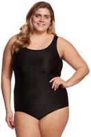SPORTI Women's Black Plus Size Moderate Swimsuit SWCP020 Sz 10 $52 NWT