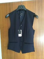 Men's, Next, Navy Blue, Pure Wool Waistcoat, Size 36R