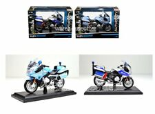 MAISTO 1:18 AUTHORITY MOTORCYCLES BMW R 1200 RT 2 STYLES POLIZEI & POLIZIA 32306