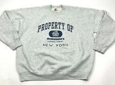 VINTAGE McDonald's Music Dept Sweater Size 2XL XXL Gray Crewneck New York NY USA
