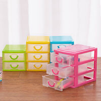 LAYERS DRAWER DESK ORGANIZER STORAGE BOXES CONTAINERS JEWELRY COSMETICS CASE SM