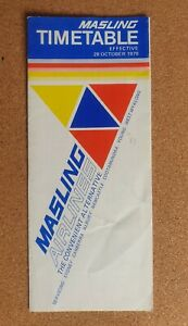 MASLING AIRLINES 1979 TIMETABLE