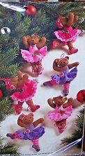 Bucilla BALLET BEARS Felt Christmas Ornaments Kit (Set of 6) OOP Factory Direct