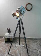 Laundry Room Searchlight & Grey Tripod Stand Decor Spotlight With Wood Tripod