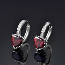 NEW White Gold Filled Classic Zircon Crystal Rhinestone Earrings Jewellery Gift