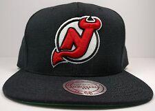New Jersey Devils Solid Wool Current Logo Snapback Hat Cap NHL
