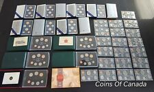 Lot Of 33 Canada Specimen and Prooflike Sets - 197 Coins!  #coinsofcanada