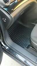 Audi A4 2008-15 B8 Fully Tailored RUBBER Car Mats in Black.