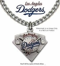 LOS ANGELES DODGERS NECKLACE - STAINLESS STEEL CHAIN - MLB BASEBALL - FREE SHIP'