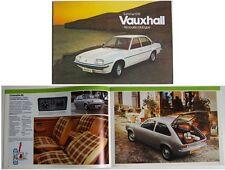 Vauxhall Summer 1978 Chevette Cavalier Viva VX Series original Sales Brochure