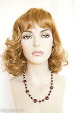 Ginger Red Medium Wavy Skin Top Wigs