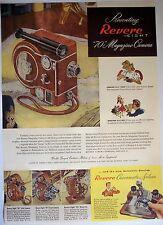 "1947 vintage AD Revere Eight ""70"" Magazine Camera"