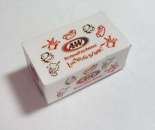 "A&W Take Away Box FRIDGE MAGNET Novelty Indonesia 3D Internal magnet A & W 1.75"""