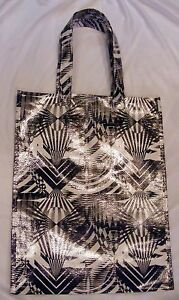 Reusable Black and White Plastic Fashion Tote