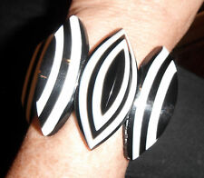 stretch bangle bracelet massive tear shapes marion godart black white optic