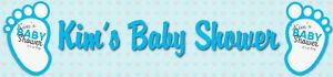 2 Personalised blue baby shower banners party decoration celebrate occasions