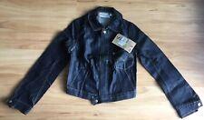 NWT Levi Strauss Girls Vintage Blue Denim Trucker Jacket Size 12-14