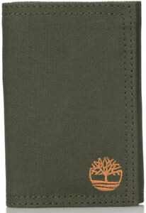 Timberland Men's Polyester Extra Capacity Trifold Wallet-Olive