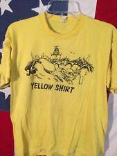 VTG 60's 70's Vietnam War Uss D Eisenhower Yellow Shirt Navy Air Force Marines M