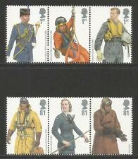 Great Britain 2008 British Air Force Uniforms--Attractive Topical (2594-99) MNH