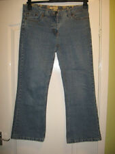 Cotton Straight Leg Mid Rise Jeans BHS for Women