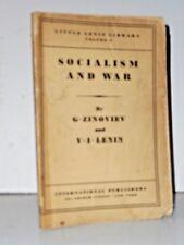 Socialism and War by V.I. Lenin & G. Zinoviev Vol.3 Little Lenin Library 1933