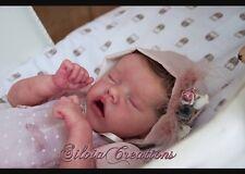Belle custom made reborn poupée Preemie Twin un Kit Bonnie Brown ❤ Ready oct