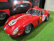FERRARI  250 GTO 1962 LE MANS # 19 rouge au 1/18 KYOSHO 08432A voiture miniature
