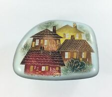 Trinket Box Sascha Brastoff Lidded Ceramic Roof Tops pattern